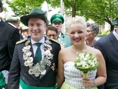 Das Hülschotter Königspaar Moritz Marl und Felicia Heisiep